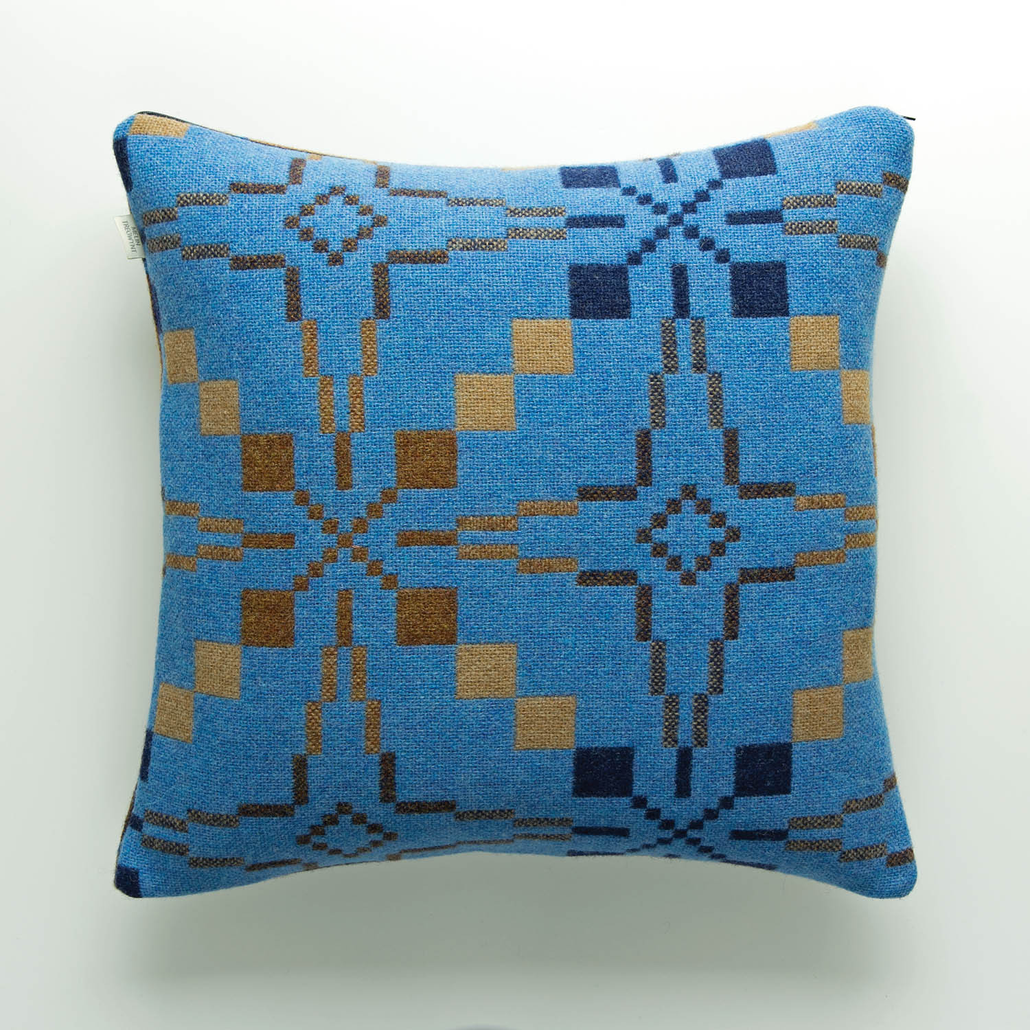 Vintage Star blue cushion