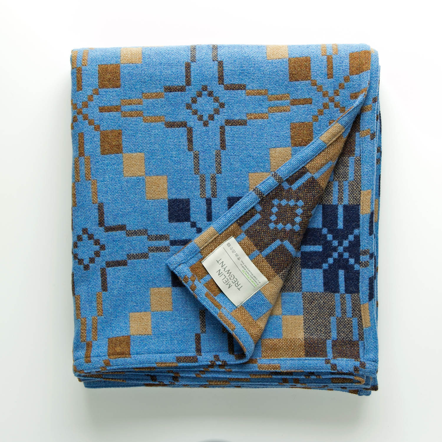 Vintage Star blue blanket