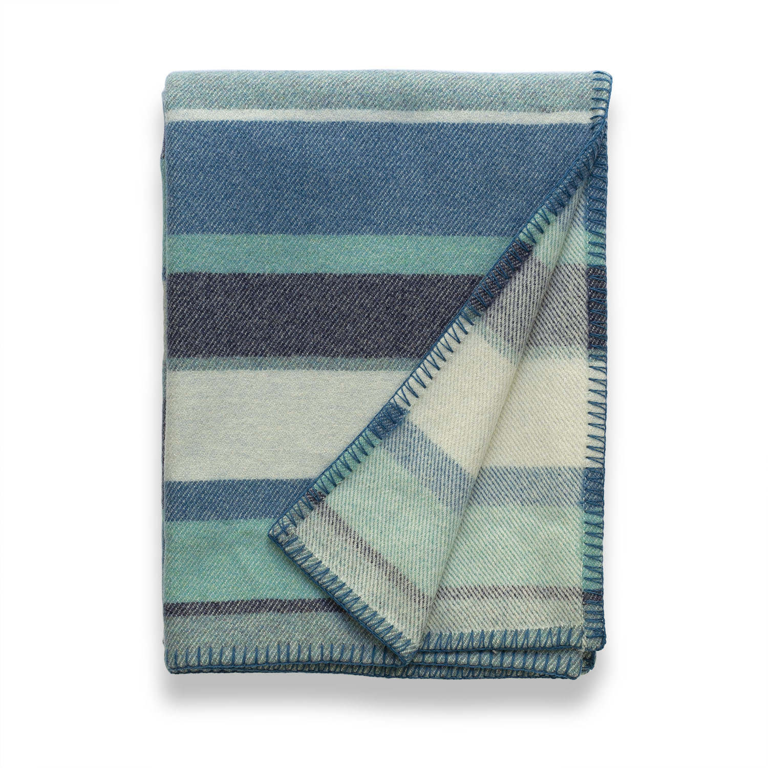 Clubstripe lagoon throw