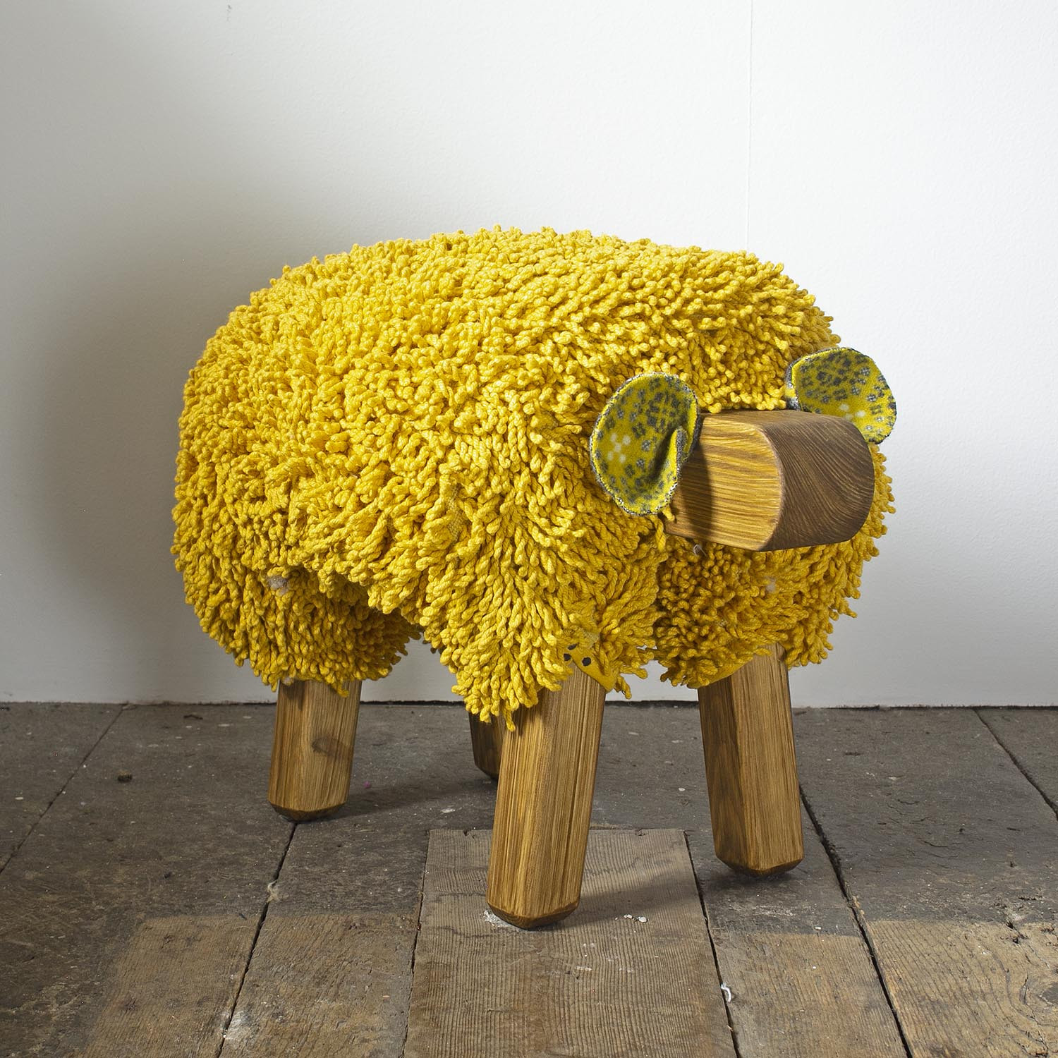Ewemoo sheep footstool mustard