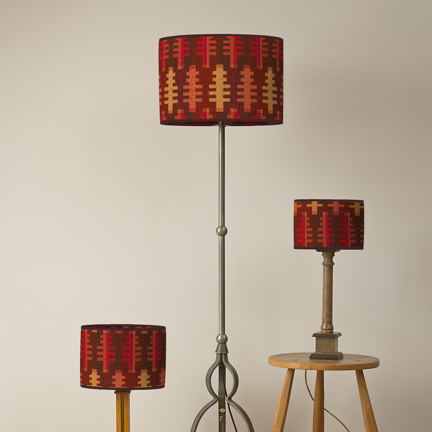 Forest autumn oval lampshades
