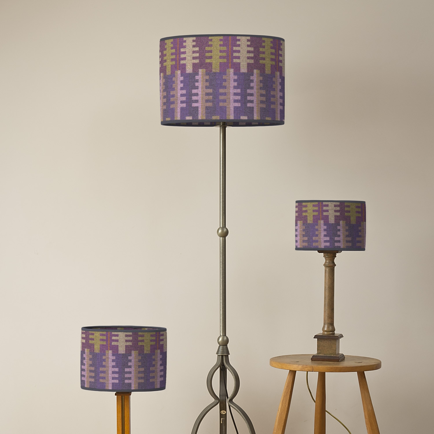 Forest spring oval lampshades