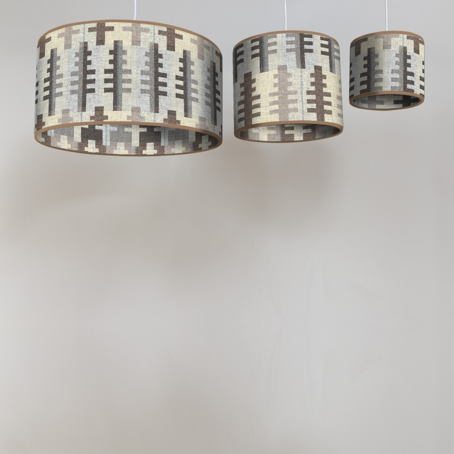Forest winter circular lampshades