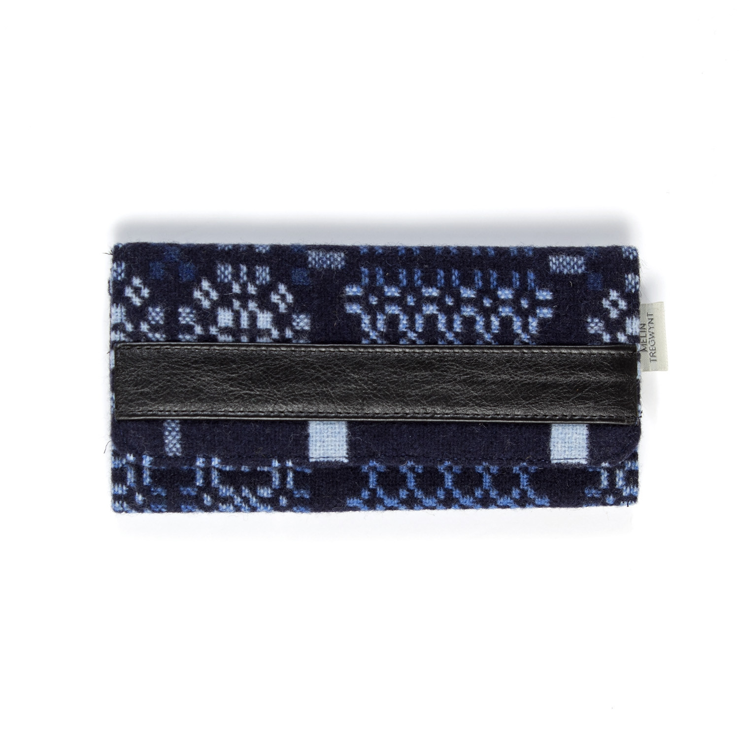 Knot garden indigo ladies wallet