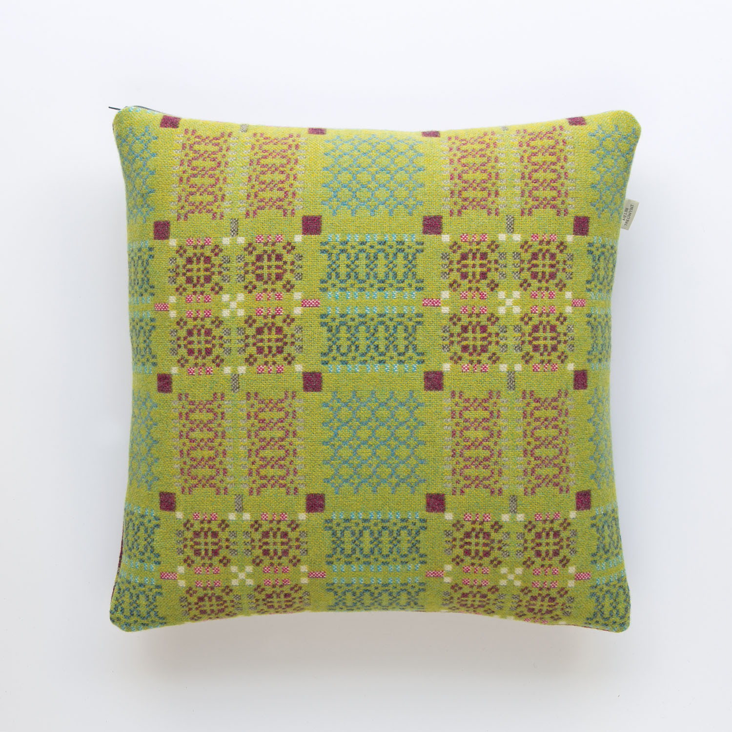 Knot Garden green cushion