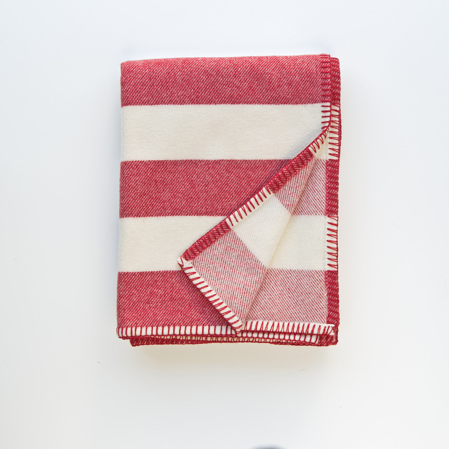 Broadstripe red blanket