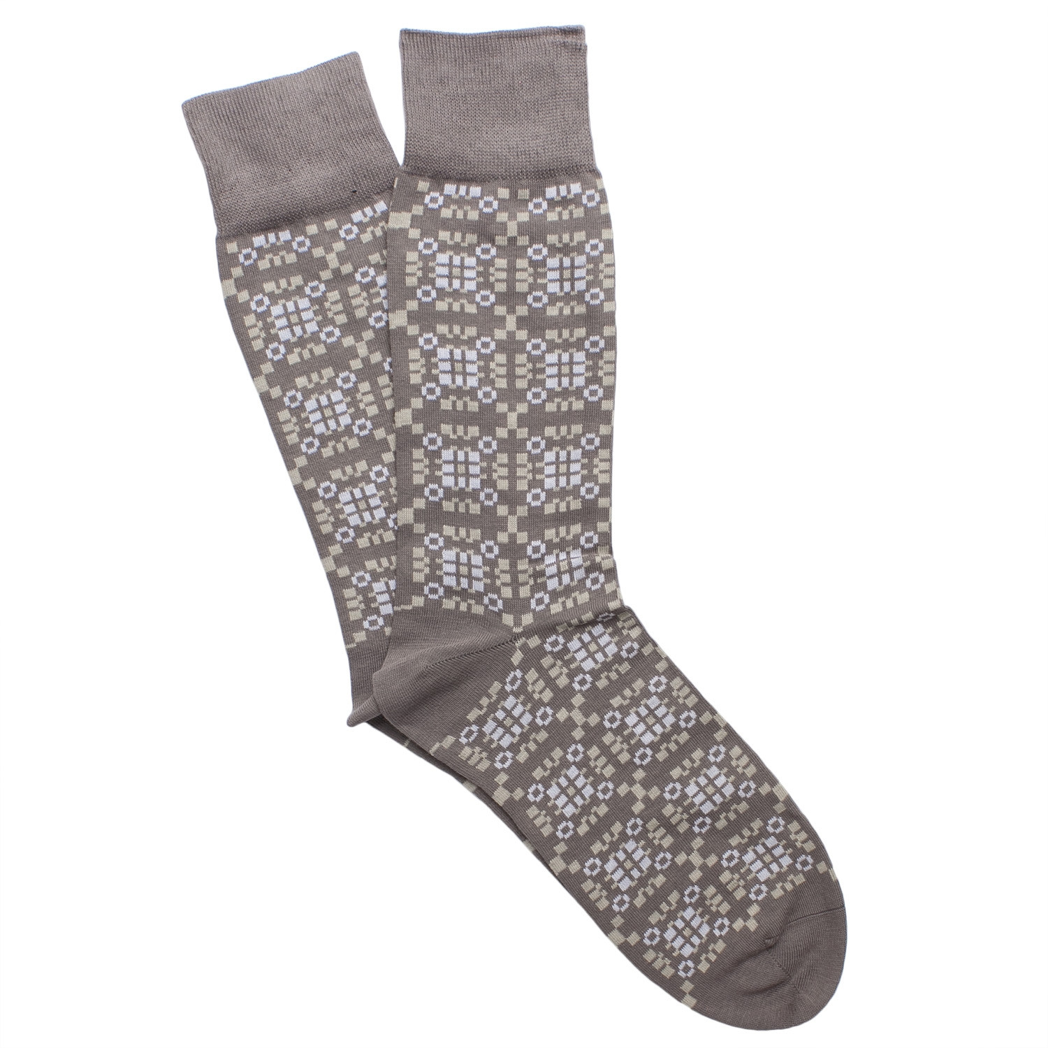 Tapestri silver cotton blend socks