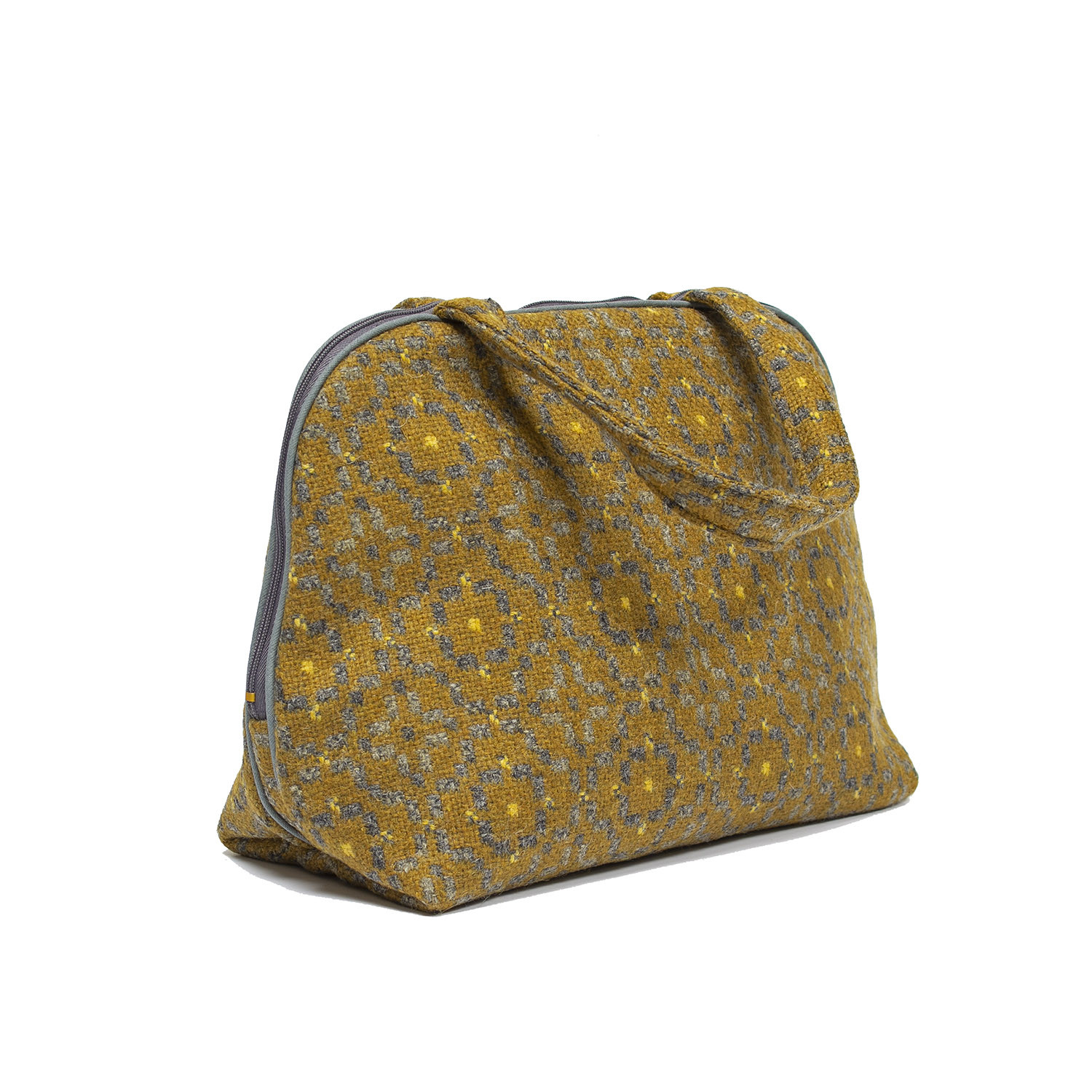 Vintage rose mustard tote bag