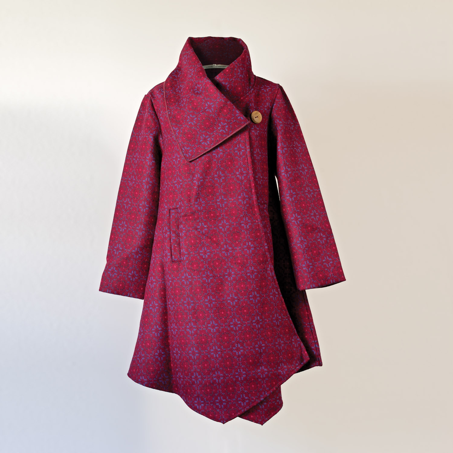 Vintage rose redberry draped coat