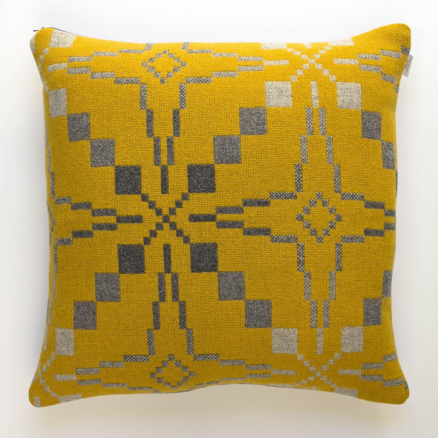 Vintage star gorse cushion
