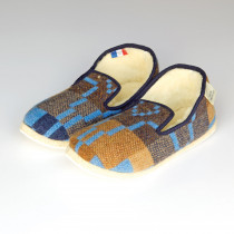 Vintage Star blue slippers