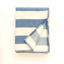 Broadstripe blue blanket
