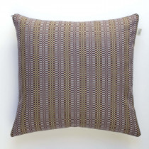 Block aubergine cushion