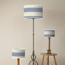 Broadstripe blue oval lampshades