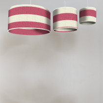 Broadstripe red circular lampshades