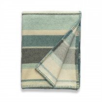 Clubstripe mint throw