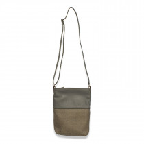 Cambrian wool diamond tweed mocha Ronson crossbody bag