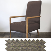 Diamond tweed mocha high back chair - swatch