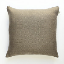 Cambrian wool diamond tweed mocha cushion
