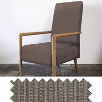Log Stripe mocha high back chair - swatch