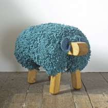 Ewemoo sheep footstool teal