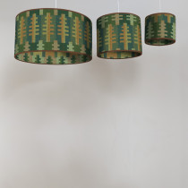 Forest summer circular lampshades