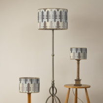 Forest winter oval lampshades