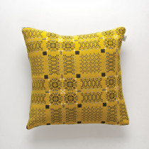 Knot Garden gorse cushion