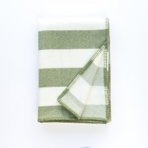 Broadstripe green blanket