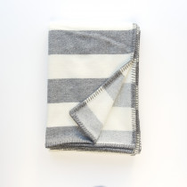 Broadstripe grey blanket