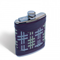 Hashtag aubergine 6oz hip flask