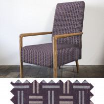 Hopsack clay high back armchair - swatch