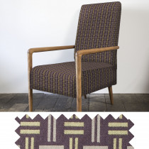 Hopsack olive high back armchair - swatch