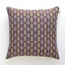 Hashtag aubergine cushion