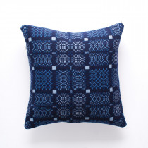 Knot Garden indigo cushion