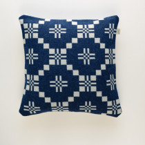 St Davids Cross indigo cushion
