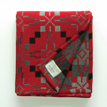 Vintage Star Jemima red blanket