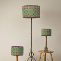 Knot garden green oval lampshades