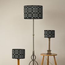 Knot garden graphite oval lampshades