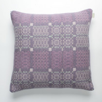 Knot Garden lilac cushion