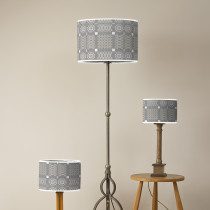 Knot Garden silver oval lampshades