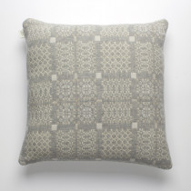 Knot Garden silver cushion
