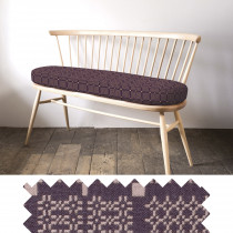 Knot Garden aubergine loveseat - sample