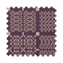 Knot Garden aubergine upholstery sample swatch