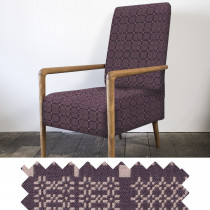 Knot Garden aubergine high back armchair - sample