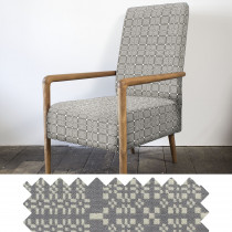 Knot Garden grey high back armchair - sample
