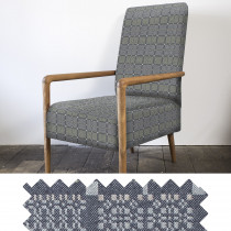 Knot Garden shale high back armchair - sample