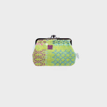 Knot Garden Green Medium Double Purse
