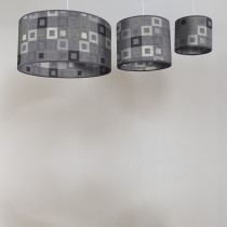 Madison steel circular lampshades