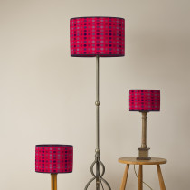 Mondo redberry oval lampshades